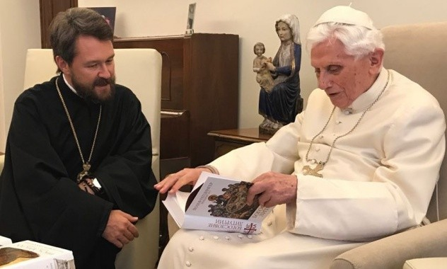 Risultati immagini per foto di Hilarion e benedetto XVI